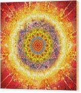 Flower Chakra Mandala Wood Print