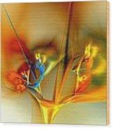 Flower Composition Wood Print