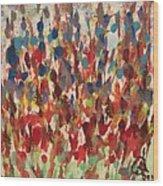 Flower Garden Wood Print by Gail Schmiedlin