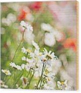 Flower Meadow Wood Print by Elena Elisseeva