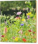 Flower Meadow Wood Print