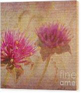 Flower Memories Wood Print