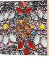 Flower Of Beads Wood Print