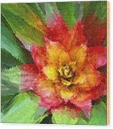 Flower Of The Tropics Wood Print