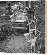 Flower Old Grave Wood Print