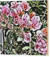 Flower Painting 0003 Wood Print