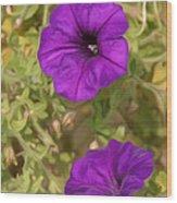 Flower Painting 0006 Wood Print