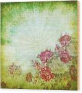 Flower Pattern On Paper Wood Print by Setsiri Silapasuwanchai
