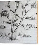 Flower Plant Wood Print by Tanmay Singh