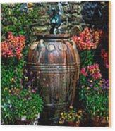 Flower Potts Wood Print