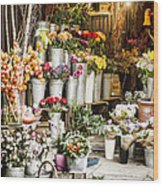 Flower Shop Wood Print
