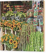 Flower Shop In Amsterdam Wood Print