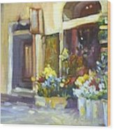 Flower Shop In Italy Wood Print