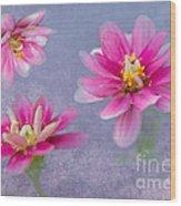 Flower Triplets Wood Print