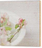 Flowering Crabapple In Bowl Wood Print