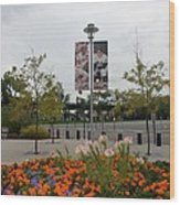 Flowers At Citi Field Wood Print by Rob Hans