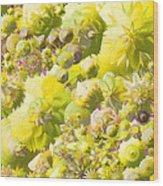 Flowers Flowers Everywhere Wood Print
