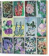 Flowers Flowers Flowers Wood Print