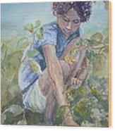 Flowers For Her Hair Wood Print by Dorothy Herron