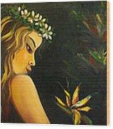 Flowers Of Paradise Wood Print