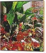 Flowers On Porch - 2 Wood Print