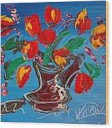 Flowers Tulips Wood Print