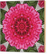 Flowery Creation Wood Print