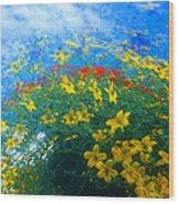 Flowery Sky Wood Print