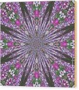 Flowery Snow Flake Wood Print