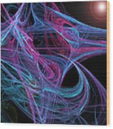 Flowing Energy II Wood Print