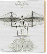 Flugmaschine 1807 Wood Print