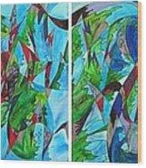 Fluttering Wood Print by Christine Bonnie Ghattas