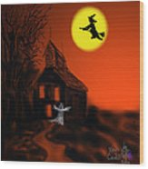 Fly By Night Wood Print by Kevin Caudill