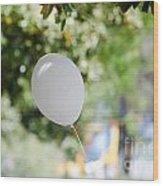 Flying Balloon Wood Print