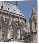 Flying Buttress At Nortre Dame Cathedral Wood Print
