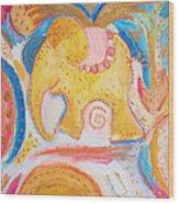 Flying Elephant Wood Print