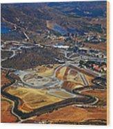 Flying Over Spanish Land II Wood Print