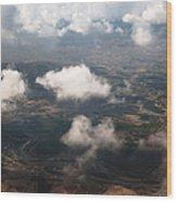 Flying Over Spanish Land Iv Wood Print
