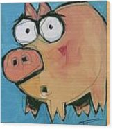 Flying Pig 1 Wood Print