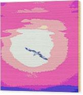 Flying To Heaven Wood Print