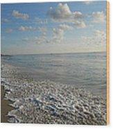 Foamy Seas Wood Print