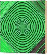 Focus On Green Wood Print