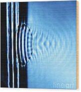 Focusing Water Waves Wood Print