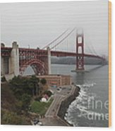 Fog At The San Francisco Golden Gate Bridge - 5d18868 Wood Print by Wingsdomain Art and Photography