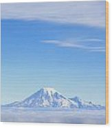 Fog, Mount Rainier, Washington Wood Print