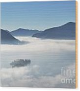 Fog Over Islands Wood Print