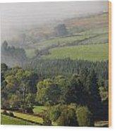 Fog Rolling Into Nire Valley Clonmel Wood Print