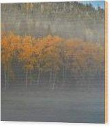 Foggy Autumn Morning Wood Print