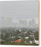 Foggy Fort Lauderdale Florida Wood Print