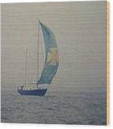 Foggy Genoa Wood Print